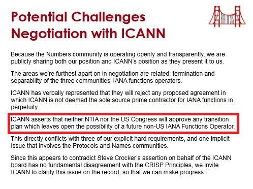 ICANN transfer
